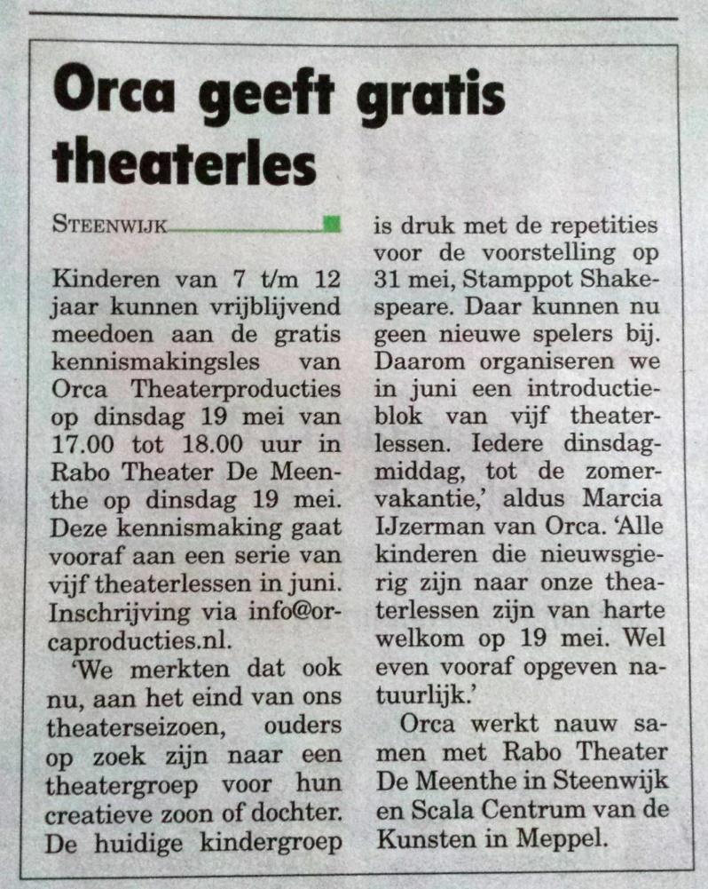Publicatie Steenwijker Express